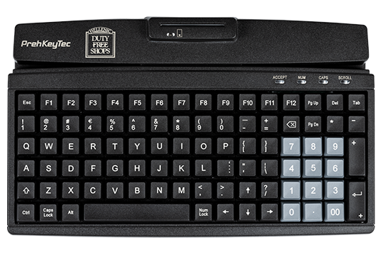 Programmable compact keyboard