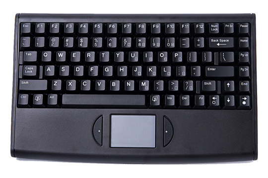 Mobile vehicle keyboard