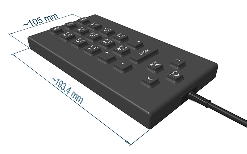 SIK 21 | Waterproof Silicone Keyboard with Protection Class IP66
