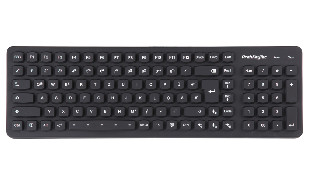 SIK 2500 black - the illuminated silicone keyboard