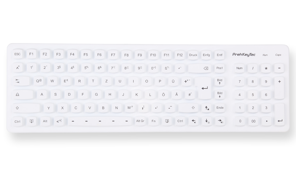 SIK 2500 white - the illuminated silicone keyboard