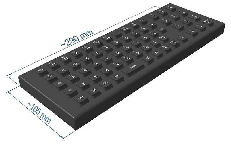 SIK 65 | Rugged Backlit Logistic Keyboard Made of Silicone